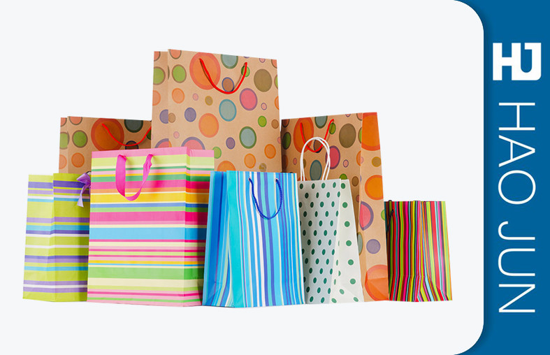 250g Gift Packaging Bags / Personalized Store Bags CMYK Printing